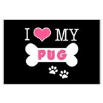 I Love My Pug Large Poster