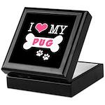 I Love My Pug Keepsake Box