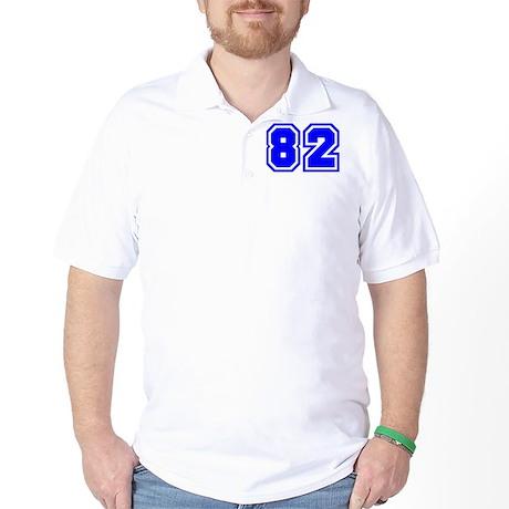 Varsity Uniform Number 82 (Blue) Golf Shirt