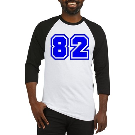 Varsity Uniform Number 82 (Blue) Baseball Jersey
