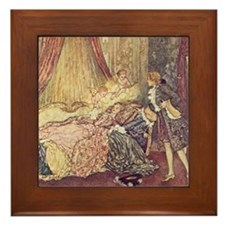 Dulac's Sleeping Beauty Framed Tile