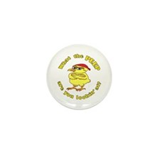 Tough Easter Chick Mini Button (10 pack)