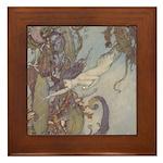 Dulac's Little Mermaid Framed Tile