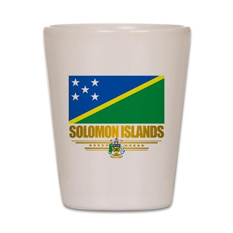 """Solomon Islands Flag"" Shot Glass"