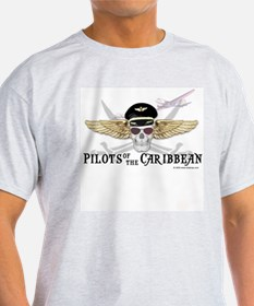 Pilots of the Caribbean Ash Grey T-Shirt