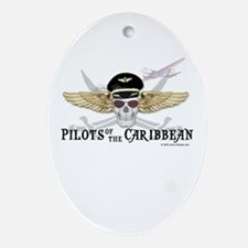 Pilots of the Caribbean Oval Ornament