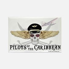 Pilots of the Caribbean Rectangle Magnet
