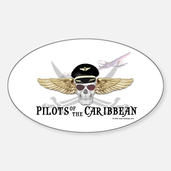 Pilots of the Caribbean Oval Decal