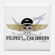 Pilots of the Caribbean Tile Coaster