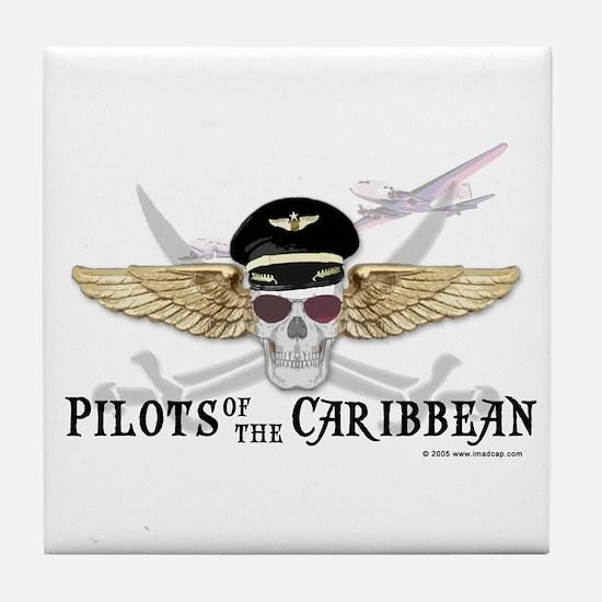 Pilots of the Caribbean Tile Coaster