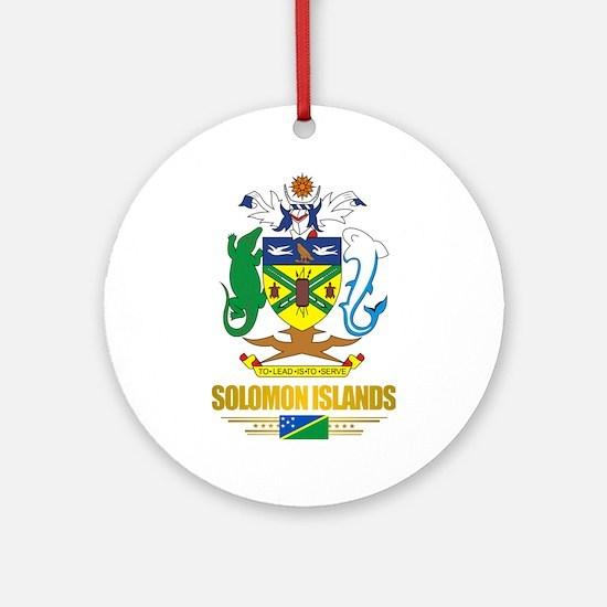 """""""Solomon Islands COA"""" Ornament (Round)"""