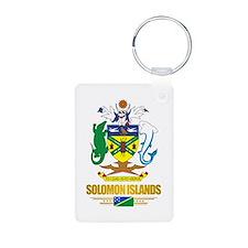 """""""Solomon Islands COA"""" Aluminum Photo Keychain"""