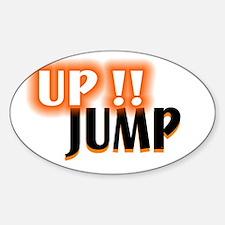 jump up Sticker (Oval)