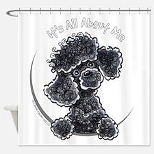 Black Poodle IAAM Full Shower Curtain