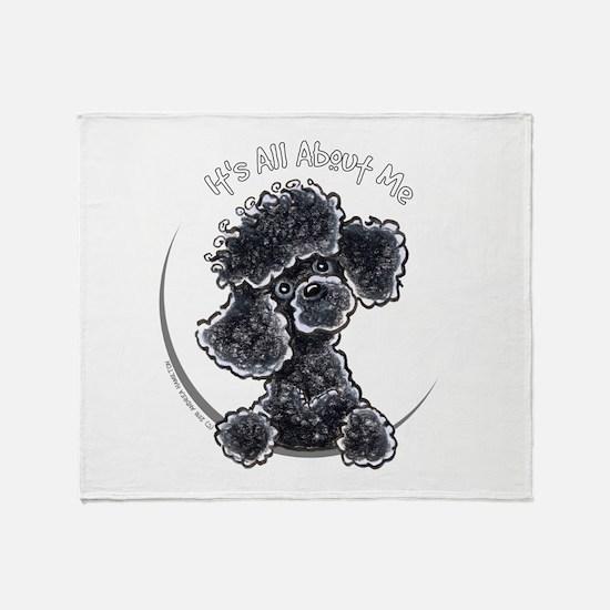 Black Poodle IAAM Full Throw Blanket