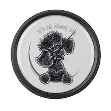 Black Poodle IAAM Full Large Wall Clock