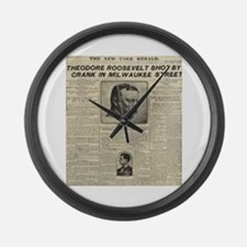 Theodore Roosevelt Shot! Large Wall Clock