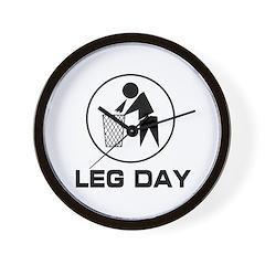 Leg Day Puke Wall Clock