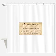 2nd Amendment Vintage Shower Curtain