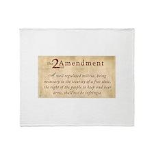 2nd Amendment Vintage Throw Blanket