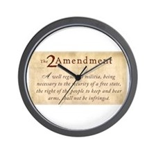 2nd Amendment Vintage Wall Clock