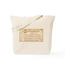 2nd Amendment Vintage Tote Bag