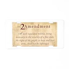 2nd Amendment Vintage Aluminum License Plate