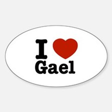 I love Gael Sticker (Oval)