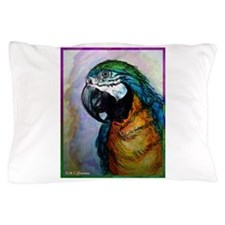 Macaw! Blue, gold parrot, art Pillow Case