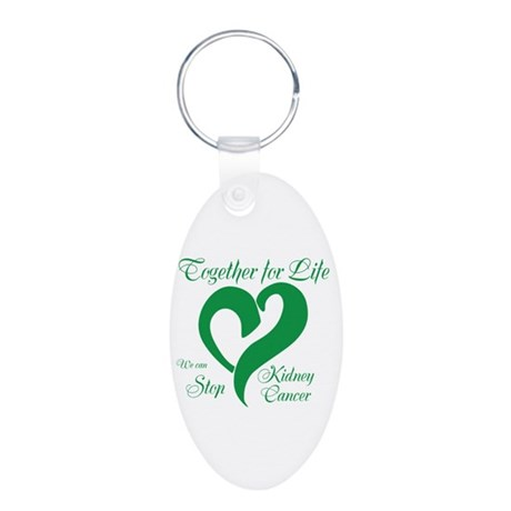 Personalize Kidney Cancer Aluminum Oval Keychain