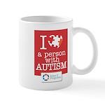 I <3 A Person With Autism Mug