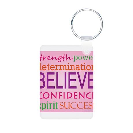Motivating Words Aluminum Photo Keychain