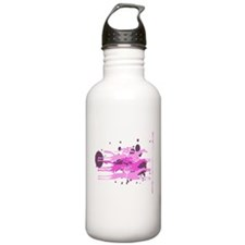 Horse Racing in Pink Water Bottle