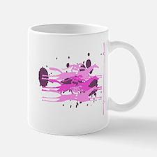 Horse Racing in Pink Mug