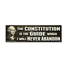 Washington Quote - Constitution Car Magnet 10 x 3