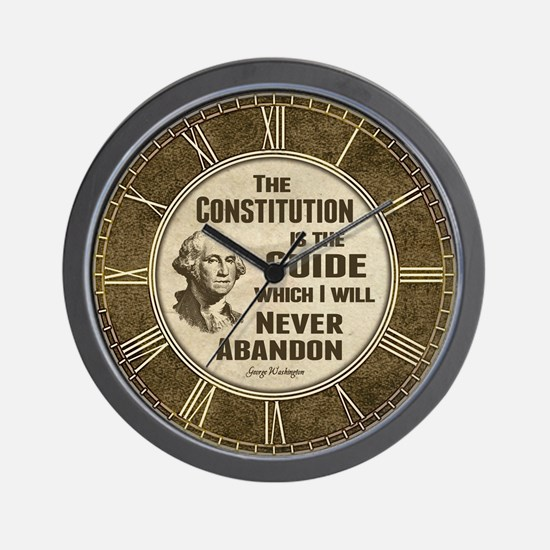 Washington Quote - Constitution Wall Clock