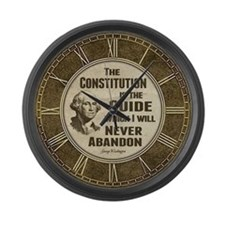 Washington Quote - Constitution Large Wall Clock