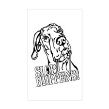 Slop Happens UC B&W Rectangle Decal