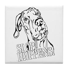 Slop Happens UC B&W Tile Coaster