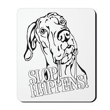 Slop Happens UC B&W Mousepad