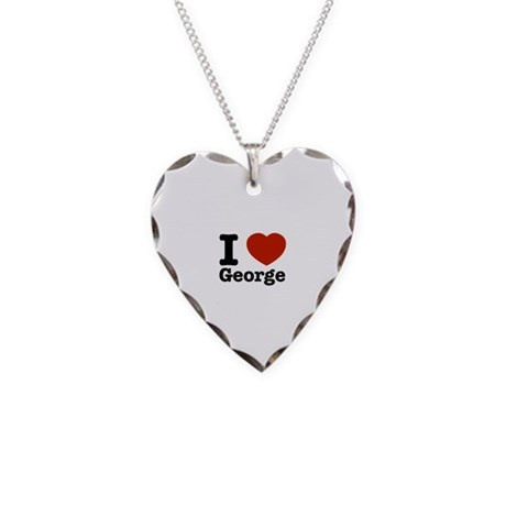 I love George Necklace Heart Charm