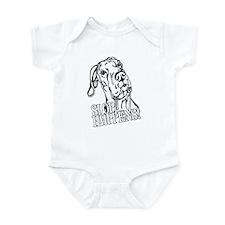 Slop Happens UC B&W Infant Bodysuit