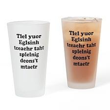 English Teachers Spelling Drinking Glass