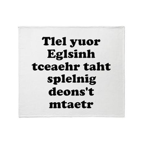 English Teachers Spelling Throw Blanket