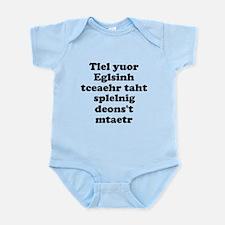 English Teachers Spelling Infant Bodysuit