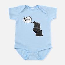 Mmm Bacon Thinker Infant Bodysuit