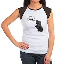 Mmm Bacon Thinker Women's Cap Sleeve T-Shirt