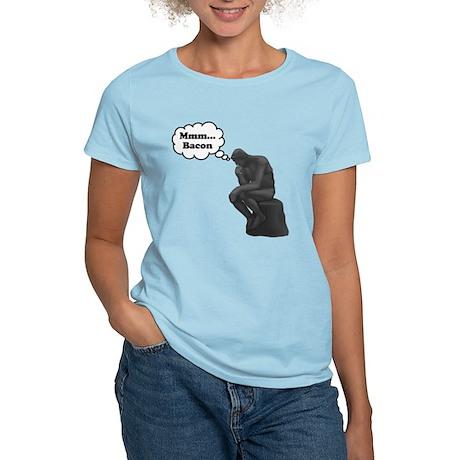 Mmm Bacon Thinker Women's Light T-Shirt