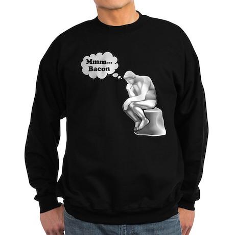 Mmm Bacon Thinker Sweatshirt (dark)