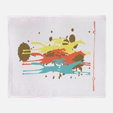Horse racing Party Throw Blanket